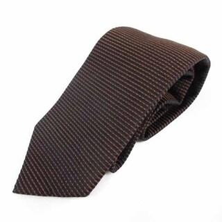ルイジボレッリ(LUIGI BORRELLI)のルイジボレッリ ネクタイ レギュラータイ ストライプ 総柄 絹 シルク 茶 紺(ネクタイ)