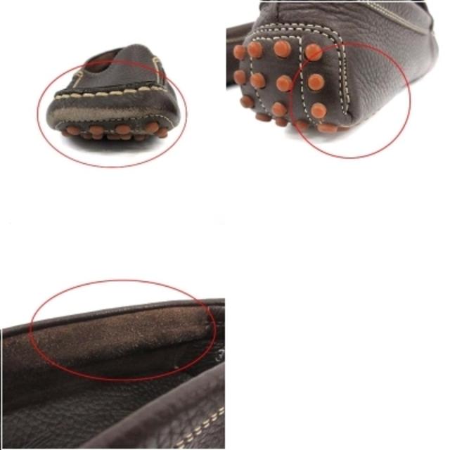 TOD'S(トッズ)のトッズ ドライビングシューズ スリッポン スクエアトゥ レザー 37 茶 レディースの靴/シューズ(その他)の商品写真