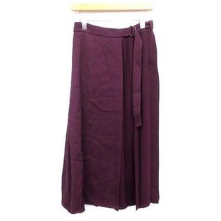 セオリーリュクス(Theory luxe)のセオリー theoryluxe ラップ スカート ロング プリーツ 紫パープル(ロングスカート)