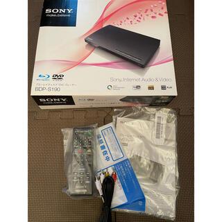 ソニー(SONY)のSONY ブルーレイディスクプレーヤー BDP-S190 箱あり付属品あり(ブルーレイプレイヤー)