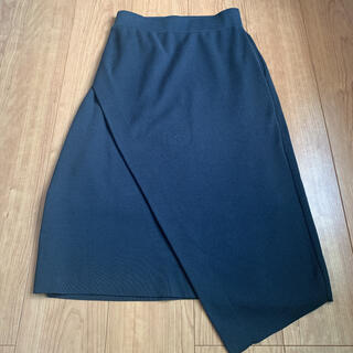 ハイク(HYKE)のHYKE ハイク  ネイビー変形スカート(ロングスカート)