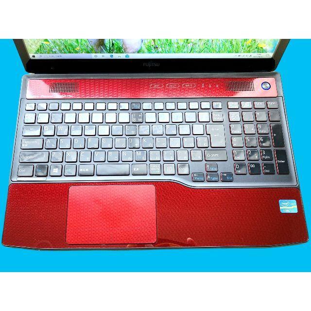 富士通(フジツウ)の3世 i7 8GB HDD1TB ブルーレイ カメラ Office スマホ/家電/カメラのPC/タブレット(ノートPC)の商品写真