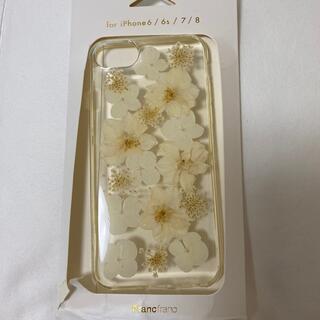 フランフラン(Francfranc)のFrancfranc  iPhone6 6S  7 8 ケース 押し花(iPhoneケース)
