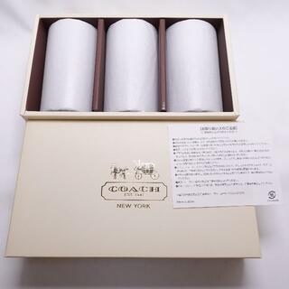 コーチ(COACH)のCOACH グラス3個セット クリア/ホワイト(グラス/カップ)