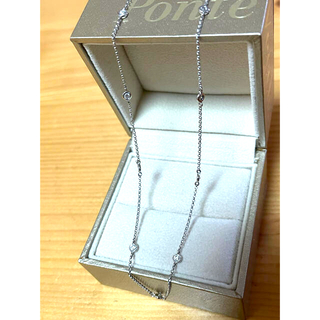 PonteVecchio - 美品 ポンテヴェキオ  ステーションネックレス K18WG ダイヤ