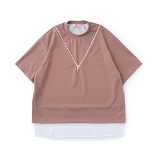 ステュディオス(STUDIOUS)のCULLNI 20SS EX.NECK ZIP PO(Tシャツ/カットソー(半袖/袖なし))