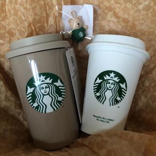 Starbucks Coffee - スターバックス リユーザブルカップ  ベアリスタキャップ   タンブラーベージュ