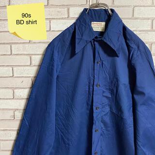 90s 古着 ヴィンテージ BDシャツ コットンシャツ ゆるだぼ(シャツ)
