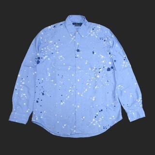 POLO RALPH LAUREN - ★新品★ラルフローレン★スプラッターペイント長袖シャツ (Blue/M)