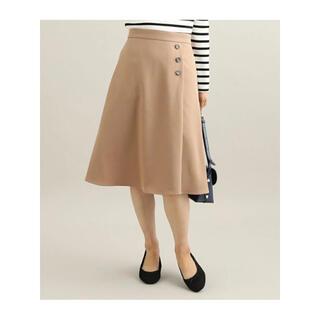 ヴィス(ViS)のウォッシャブルフラノフレアスカート キャメル(ひざ丈スカート)