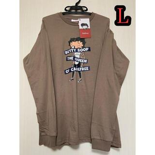 ベティ  ロンT L ベティブープ Tシャツ ロングTシャツ(Tシャツ/カットソー(七分/長袖))