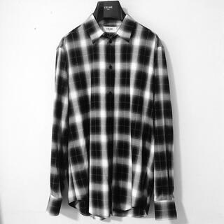 celine - CELINE ウエスタンビスコース オンブレチェックシャツ