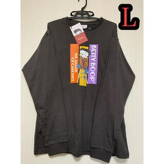 ベティ  ロンT L ベティブープ Tシャツ ロングTシャツ ブラック(Tシャツ/カットソー(七分/長袖))