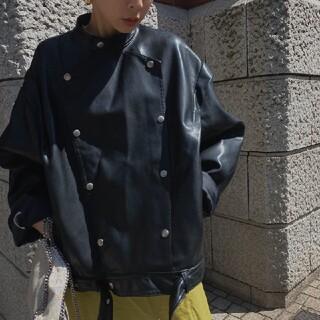 アメリヴィンテージ(Ameri VINTAGE)のAmeriVINTAGE 新作完売品 レトロフェイクレザージャケット(ライダースジャケット)