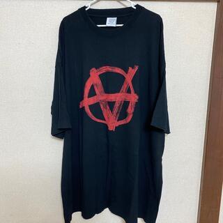 バレンシアガ(Balenciaga)のvetements anarchy Tシャツ アナーキー 確実正規品(Tシャツ/カットソー(半袖/袖なし))