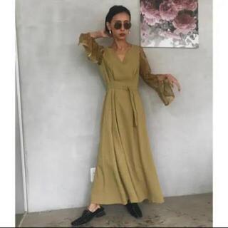 アメリヴィンテージ(Ameri VINTAGE)のAMERI アメリ LACE SLEEVE REFINED DRESS(ロングドレス)