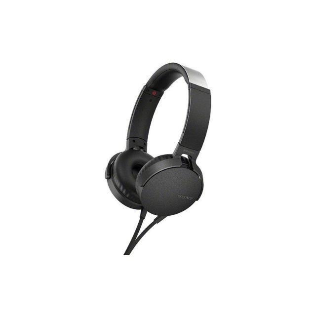 SONY(ソニー)の未開封! SONY ヘッドホン MDR-XB550AP B/ブラック  スマホ/家電/カメラのオーディオ機器(ヘッドフォン/イヤフォン)の商品写真
