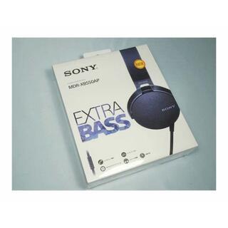 ソニー(SONY)の未開封! SONY ヘッドホン MDR-XB550AP B/ブラック (ヘッドフォン/イヤフォン)