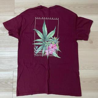 ハフ(HUF)のHUF  赤 バックプリント Mサイズ(Tシャツ/カットソー(半袖/袖なし))