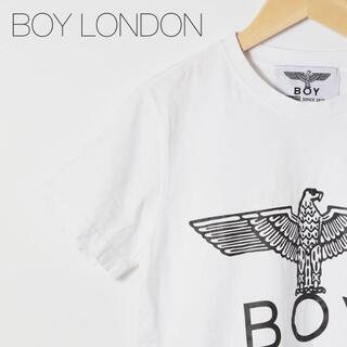 ボーイロンドン(Boy London)のボーイロンドン Tシャツ 白 メンズ XS カットソー 半袖 ビッグロゴ(Tシャツ/カットソー(半袖/袖なし))