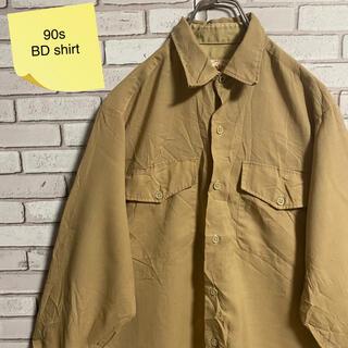 90s 古着 ヴィンテージ  BDシャツ アースカラー ゆるだぼ(シャツ)
