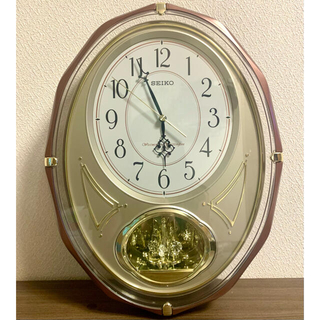 SEIKO - SEIKO 壁掛け時計 クオーツ ゴールド系 美品 動作正常 セイコー