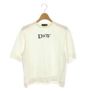 ドゥロワー(Drawer)のドゥロワー プリントエンブレムTEE Tシャツ カットソー 半袖 白 ホワイト(その他)