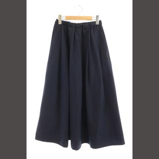 イエナ(IENA)のイエナ サッカーギャザーデザインスカート ロング フレア 34 紺 ネイビー(その他)
