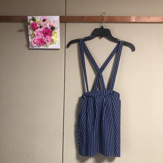 サンカンシオン(3can4on)の女の子 秋冬 3can4on   140 吊りスカート ストライプ(スカート)
