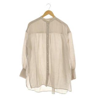 イエナ(IENA)のイエナ ラミーリヨセルバックギャザーシャツ ブラウス 長袖 38 グレージュ(その他)