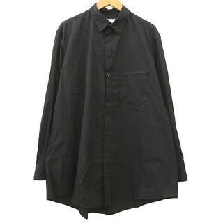 Y-3 - Y-3 ロング シャツ 長袖 インボタン ファスナー コットン S 黒 ブラック
