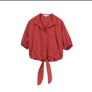 マーキュリーデュオ(MERCURYDUO)の新品タグ付き マーキュリーデュオ レッド 赤 シャツ フリーサイズ(シャツ/ブラウス(長袖/七分))