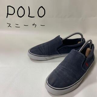 POLO RALPH LAUREN - polo ポロラルフフローレン スニーカー 刺繍ロゴ 24㎝ ネイビー 紺色