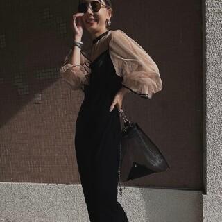 アメリヴィンテージ(Ameri VINTAGE)のAmeri MANY WAY TULLE VEIL DRESS 新品(ロングドレス)