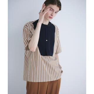ステュディオス(STUDIOUS)のCULLNI 21SS ストライプブザムシャツ風プルオーバー(Tシャツ/カットソー(半袖/袖なし))