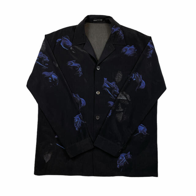 LAD MUSICIAN(ラッドミュージシャン)のLAD MUSICIAN 花柄 オープンカラー シャツ フラワー 青 薔薇 黒 メンズのトップス(シャツ)の商品写真
