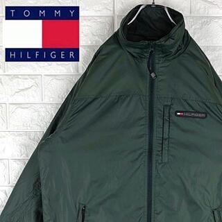 トミーヒルフィガー(TOMMY HILFIGER)のトミーヒルフィガー ワンポイントロゴ ブルゾン ナイロンジャケット 90sメンズ(ブルゾン)