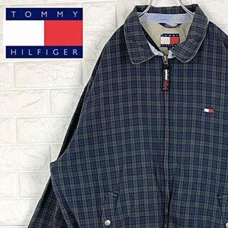 トミーヒルフィガー(TOMMY HILFIGER)のトミーヒルフィガー チェック柄 刺繍ロゴスウィング トップ ブルゾン ジャケット(ブルゾン)