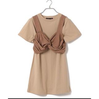 ヘザー(heather)のHeather ヘザー チュニックビスチェ付きTシャツ(Tシャツ(半袖/袖なし))