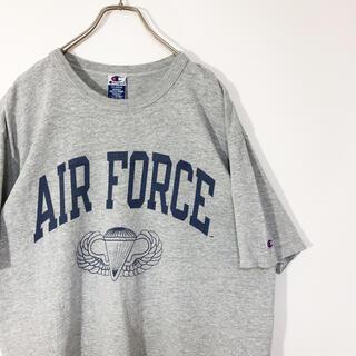 Champion - Champion Tシャツ 半袖 AIR FORCE プリント アメリカ古着