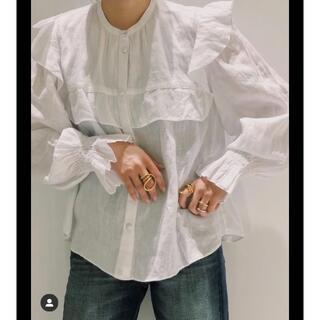 イザベルマラン(Isabel Marant)のイザベルマラン 21FW フリルブラウス(シャツ/ブラウス(長袖/七分))