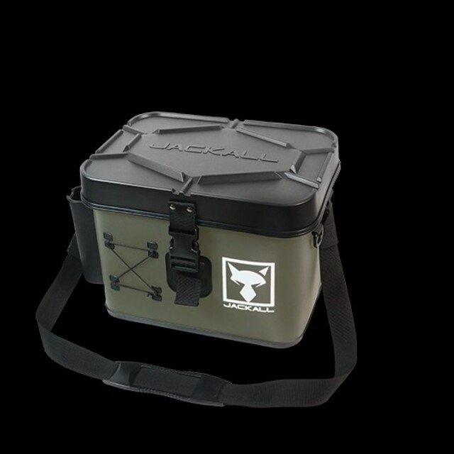 JACKALL(ジャッカル)のジャッカル タックルコンテナ ショアゲームモデル アーミーグリーン 未開封送料無 スポーツ/アウトドアのフィッシング(ルアー用品)の商品写真