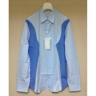 Maison Martin Margiela - 新品 42 20ss マルジェラ 異素材切り替えシャツ 水色 787