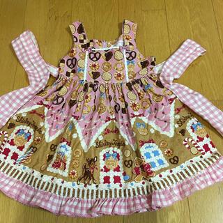 シャーリーテンプル(Shirley Temple)のシャーリーテンプル お菓子のおうちジャンパースカート  ピンク 110cm (ワンピース)