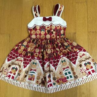 シャーリーテンプル(Shirley Temple)のシャーリーテンプル お菓子のおうちジャンパースカート  赤 110cm (ワンピース)