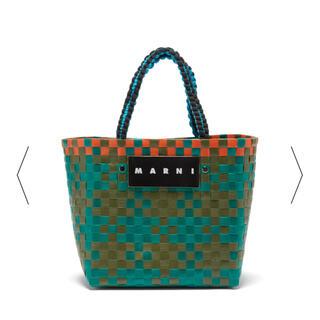 マルニ(Marni)のMARNI マルニマーケット ジャージーハンドルかごバッグ ミニピクニックバッグ(かごバッグ/ストローバッグ)