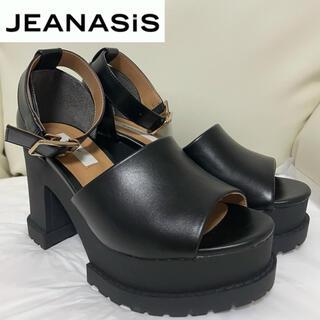 ジーナシス(JEANASIS)のJEANASIS 厚底 サンダル ブラック(サンダル)