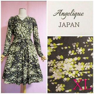 アーモワールカプリス(armoire caprice)の【Angelique JAPAN】カシュクール風ワンピース☆フィット&フレア(ひざ丈ワンピース)