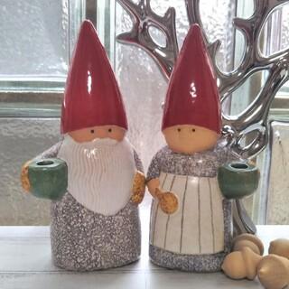 リサラーソン(Lisa Larson)の新品◆ リサラーソン サンタクロース 夫婦 クリスマス トムテ 北欧(置物)
