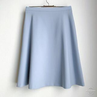 エムプルミエ(M-premier)の美品 m's select スカート 水色 38 エムズセレクト サックスブルー(ひざ丈スカート)